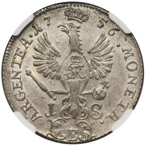 Śląsk, Fryderyk II, Ort 1756 B Wrocław - NGC MS64