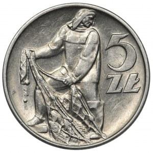 Rybak 5 złotych 1958 - wąska ósemka