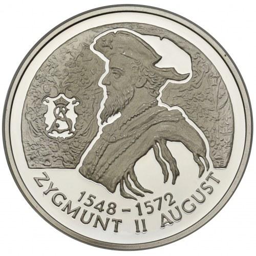 10 złotych 1996 - Zygmunt II August - popiersie