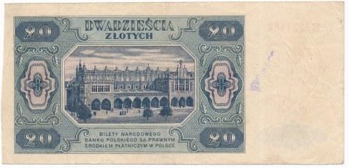 20 złotych 1948 -B-
