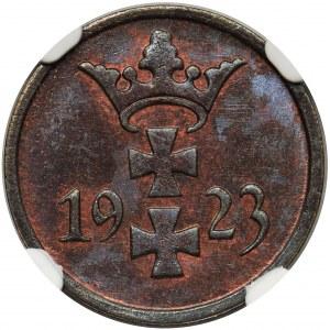 Wolne Miasto Gdańsk - 1 fenig 1923 NGC MS66 BN