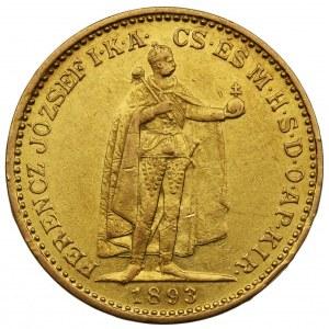 Węgry - Franciszek Józef - 20 koron 1893 KB, Kremnica