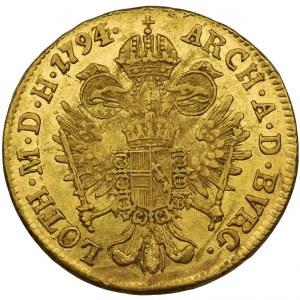 Austria - Franciszek II - Dukat 1794 E, Karlsburg