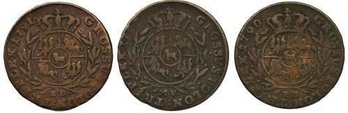 Poniatowski, Trojak 1790/1/2 (3szt.)