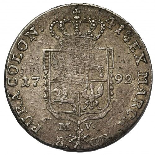 Poniatowski, Dwuzłotówka 1792 M.V.