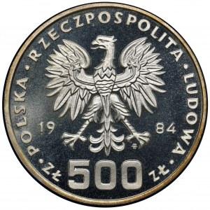 500 złotych 1984 - Ochrona Środowiska - Łabędź