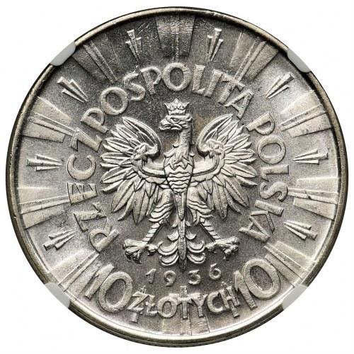 Piłsudski 10 złotych 1936 - NGC MS65