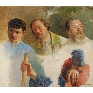Julian TOMASZEWSKI-BOŃCZA (1834-1920), Studia postaci i rąk, ok. 1880