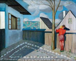 Rafał MALCZEWSKI (1892-1965), Podwórko, 1927