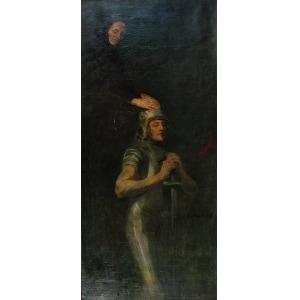 Witold PRUSZKOWSKI (1846-1896) - przypisywany, Błogosławieństwo matki, 1877