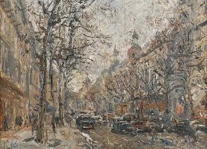 Włodzimierz ZAKRZEWSKI (1916-1992), Bulwar Haussmanna w Paryżu, 1966