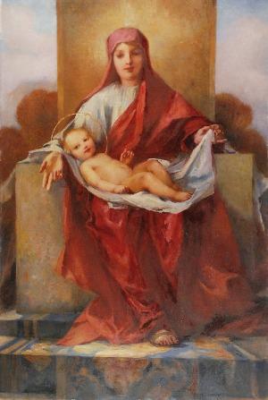 Hugo LÖFFLER (1859-1935), Madonna z Dzieciątkiem