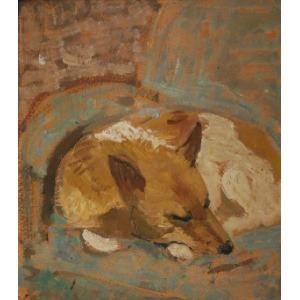 Wojciech Otton FLECK (1903-1972), Śpiący pies