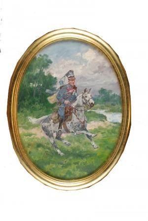 Edward MESJASZ (1929-2007), Ułan na koniu, 1997