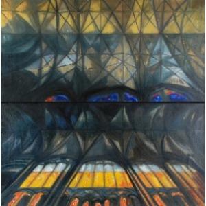 Romuald ORAMUS (ur. 1953), Katedra XXVI - 1 i 2, dyptyk, 2009/10