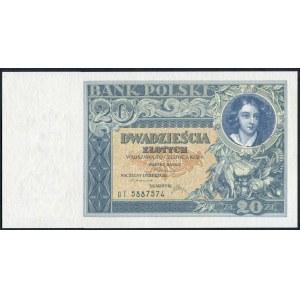 20 złotych 20 czerwca 1931