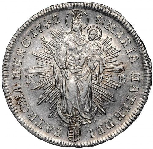 Węgry, Maria Teresa, Półtalar 1742 - piękny
