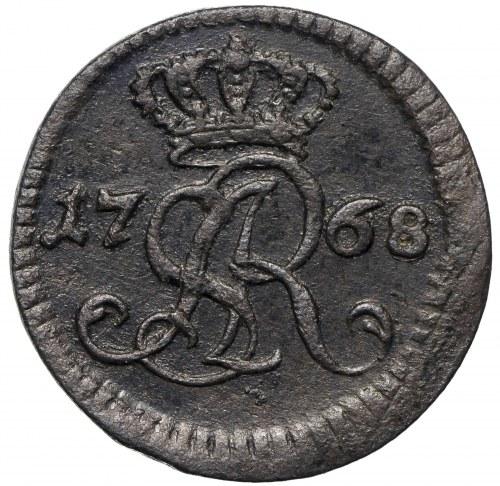 Poniatowski, Szeląg 1768 G - mały monogram