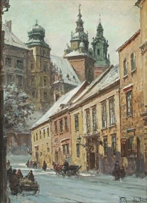 Chmieliński (Stachowicz) Władysław, WIDOK NA WAWEL Z ULICY KANONICZEJ