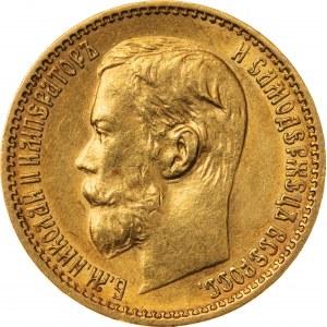 5 rubli 1898, АГ, Rosja, Au 900, 4,32 g