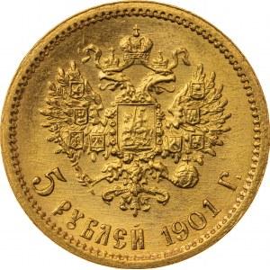 5 rubli 1901, ФЗ, Rosja, Au 900, 4,34 g