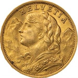 20 franków 1898, Szwajcaria, Au 900, 6,48 g