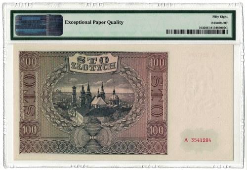 100 złotych 1941, GG, seria A, PMG 58 EPQ