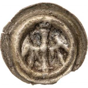 ŚLĄSK, Ks. Opolskie - Bolesław IV 1400-1437 lub Jan II i Mikołaj I 1437-1439 lub Mikołaj I 1439-1476, Opole, brakteat