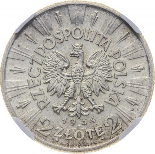 2 zł 1934, II RP, Piłsudski, MS 61