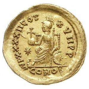 solidus 441-450, Konstantynopol, Aw: Popiersie cesarza ...