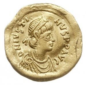 tremisis, Aw: Popiersie cesarza w prawo, D N IVSTINVS P...