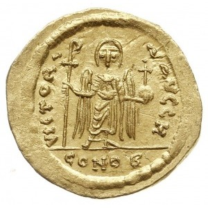 solidus 603 - 607, Konstantynopol, Aw: Popiersie cesarz...