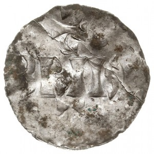 denar, mennica w Dolnej Lotaryngii, Aw: Krzyż z małym k...
