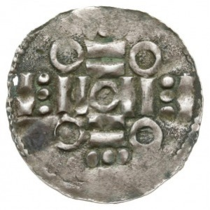 naśladownictwo denara typu kolońskiego, 1020-1025, Aw: ...