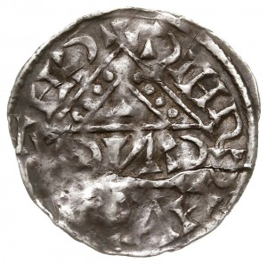 denar 1018-1026, mincerz Anti, Aw: Napis pisany w krzyż...