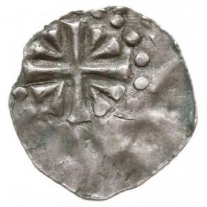 denar, Aw: Krzyż z klinami w kątach, Rw: Litera A, Dbg ...