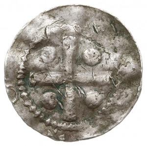 denar, Aw: Kapliczka, z lewej litera P, z prawej ledwo ...