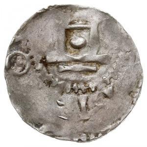 denar, Aw: Krzyż z kulkami oraz kulką z półksiężycem w ...