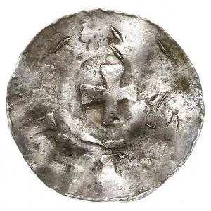 denar, Aw: Krzyż kawalerski, wokoło napis, Rw: Krzyż, w...