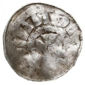 zestaw denarów krzyżowych XI w., Aw: Kapliczka, Rw: Krz...