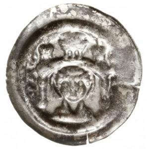 brakteat z przełomu XII/XIII w. ; Popiersie św. Mauryce...