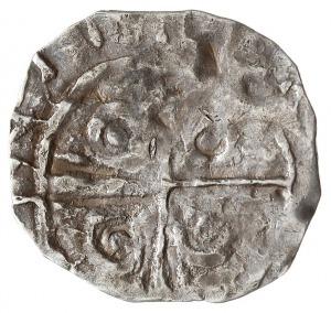 denar typu Princes Polonie, Aw: Ptak, Rw: Krzyż z kółka...