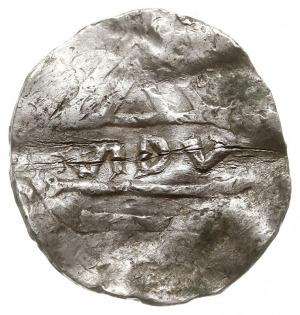Wielkopolska, naśladownictwo denara ratyzbońskiego, Aw:...