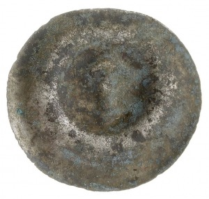 brakteat z początku XIV wieku, Herb Bogoria (strzała za...