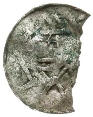 naśladownictwo denara krzyżowego z kapliczką, 1.11 g, o...