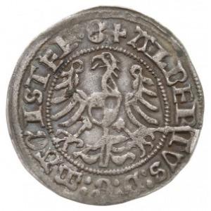 grosz 1513, Królewiec, na rewersie po NOS cztery kółka ...