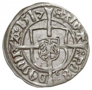 grosz 1517, Królewiec, Neumann 35, Voss. 1200, ładnie z...