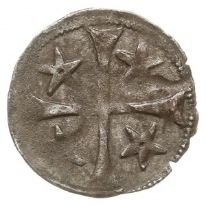Stargard, kwartnik XV w., Aw: Krzyż z gwiazdami w kątac...