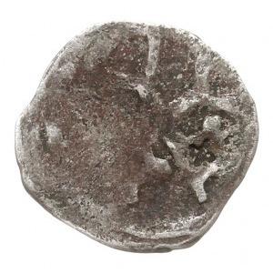 Wołogoszcz, denar XIV w., Aw: Dwa skrzyżowane klucze z ...