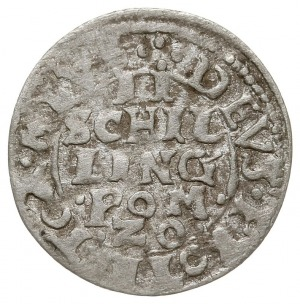 dwuszeląg, 1620, Koszalin?, Aw: Gryf w okręgu na tle dł...
